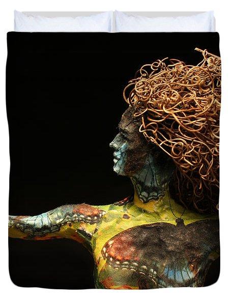Alight a sculpture by Adam Long Duvet Cover by Adam Long