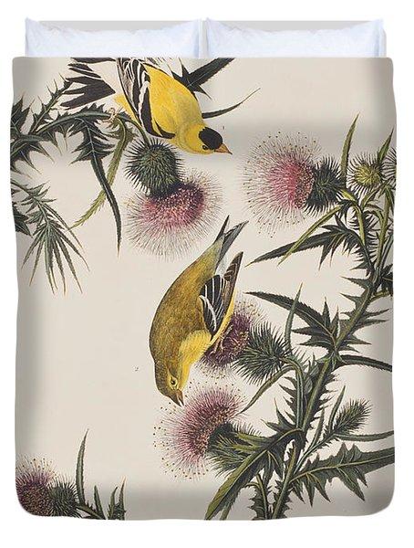 American Goldfinch Duvet Cover by John James Audubon