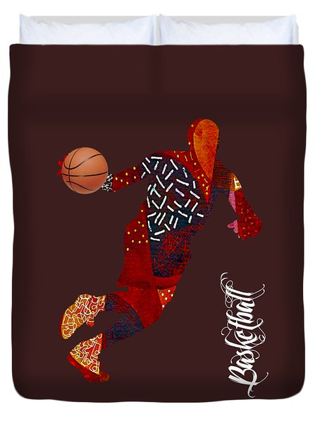 Basketball Collection Duvet Cover by Marvin Blaine