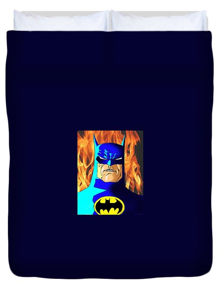 Old Batman Duvet Cover by Salman Ravish