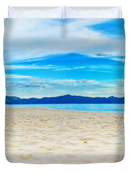 Beach Panorama Duvet Cover by MotHaiBaPhoto Prints