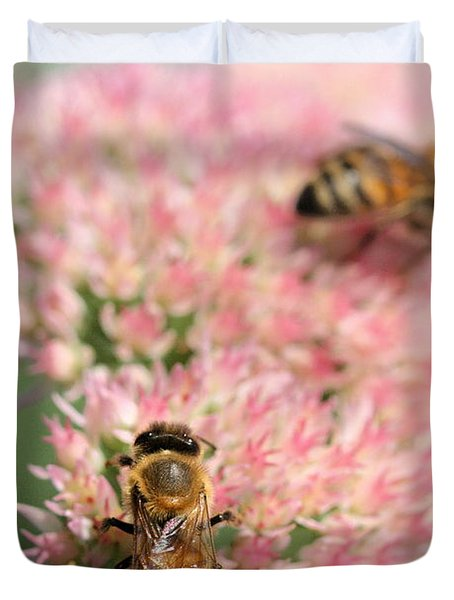 2 Bees Duvet Cover by Angela Rath