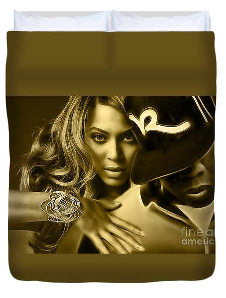 Beyonce Jay Z Collection Duvet Cover by Marvin Blaine