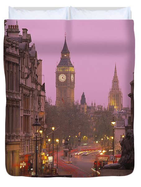 Big Ben London England Duvet Cover by Panoramic Images