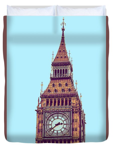 Big Ben Tower, London  Duvet Cover by Asar Studios