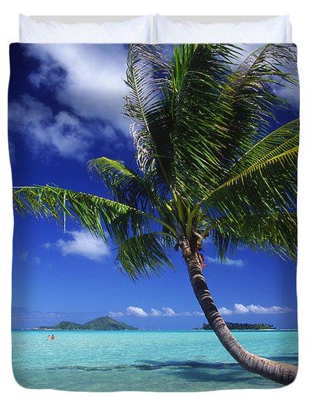 Bora Bora, Palm Tree Duvet Cover by Ron Dahlquist - Printscapes