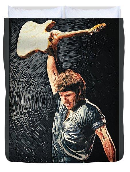 Bruce Springsteen Duvet Cover by Taylan Apukovska