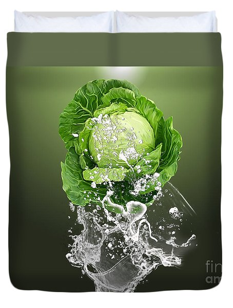 Cabbage Splash Duvet Cover by Marvin Blaine