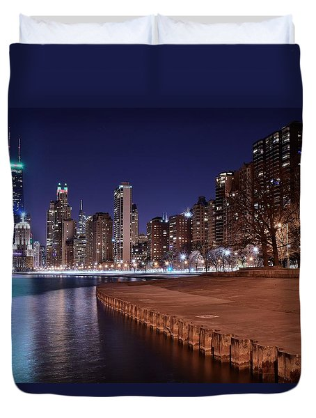 Chicago From The North Duvet Cover by Frozen in Time Fine Art Photography