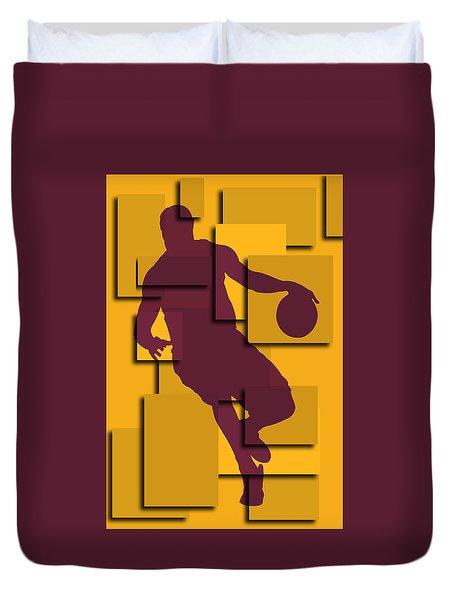 Cleveland Cavaliers Lebron James Duvet Cover by Joe Hamilton