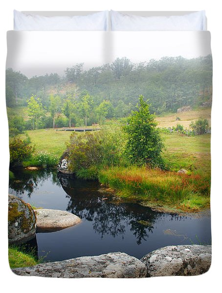 Creek Duvet Cover by Carlos Caetano