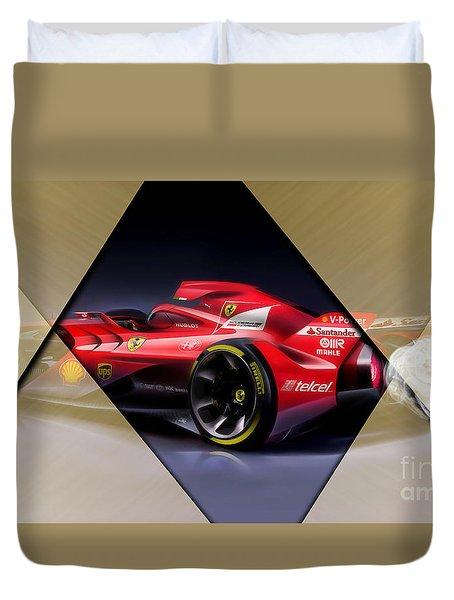 Ferrari F1 Collection Duvet Cover by Marvin Blaine