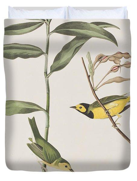 Hooded Warbler  Duvet Cover by John James Audubon
