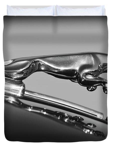 Jaguar Hood Ornament 2 Duvet Cover by Jill Reger
