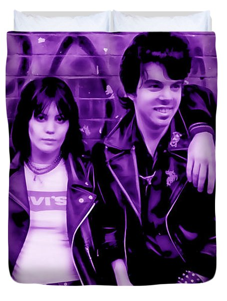 Joan Jett And The Blackhearts Collection Duvet Cover by Marvin Blaine