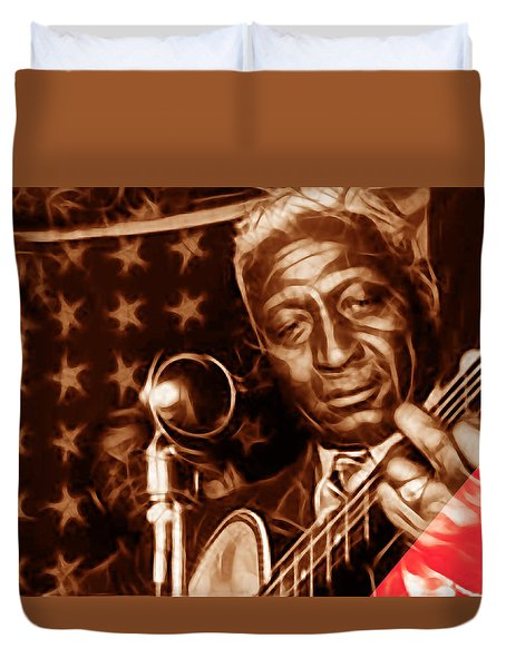 Leadbelly Collection Duvet Cover by Marvin Blaine