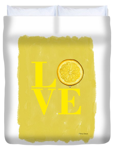 Lemon Duvet Cover by Mark Rogan