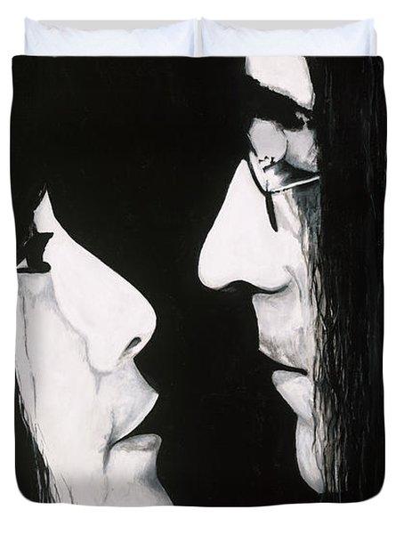 Lennon And Yoko Duvet Cover by Ashley Price