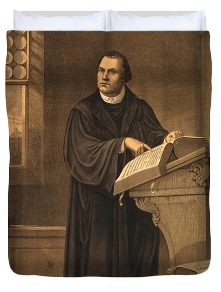 Martin Luther, German Theologian Duvet Cover by Photo Researchers