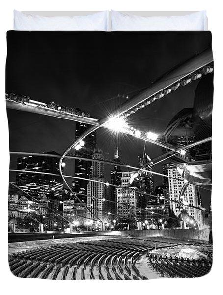Millennium Park Duvet Cover by Sebastian Musial