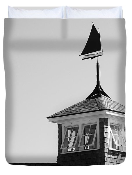 Nantucket Weather Vane Duvet Cover by Charles Harden