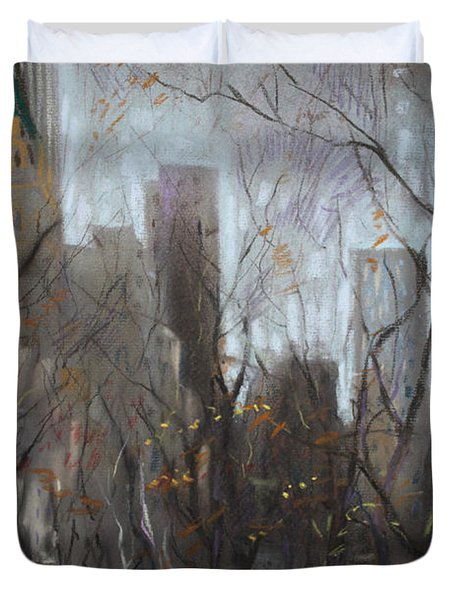 NYC Central Park Duvet Cover by Ylli Haruni