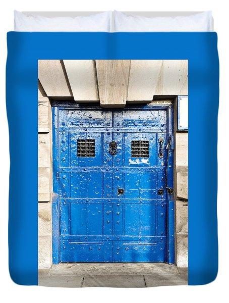 Old Blue Door Duvet Cover by Tom Gowanlock