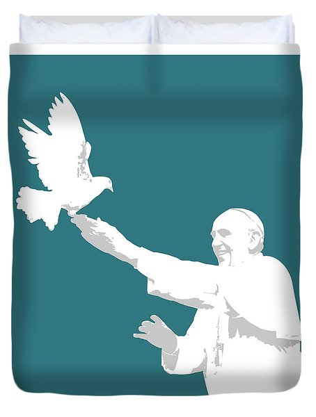 Pope Francis Duvet Cover by Greg Joens