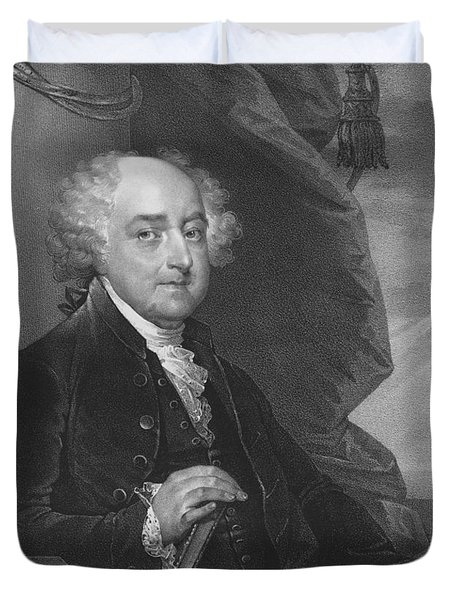 President John Adams Duvet Cover by War Is Hell Store