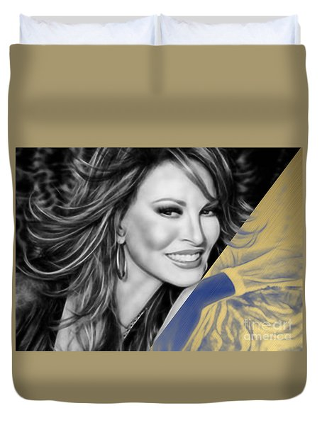 Raquel Welch Collection Duvet Cover by Marvin Blaine