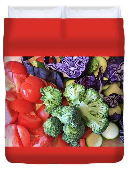 Raw Ingredients Duvet Cover by Tom Gowanlock