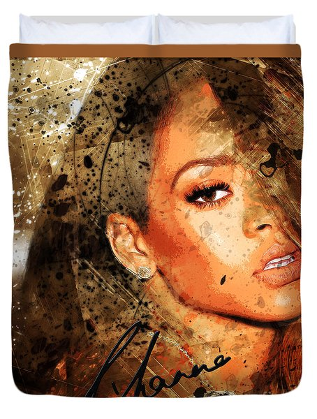 Robyn Rihanna Fenty - Rihanna Duvet Cover by Sir Josef Social Critic - ART