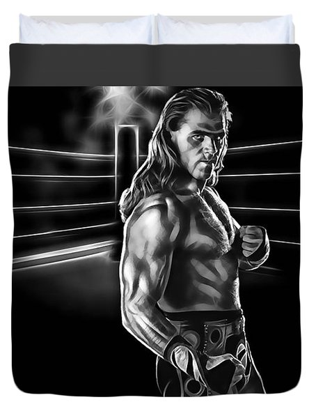Shawn Michaels Wrestling Collection Duvet Cover by Marvin Blaine