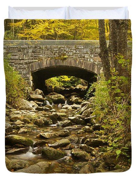 Stone Bridge 6063 Duvet Cover by Michael Peychich