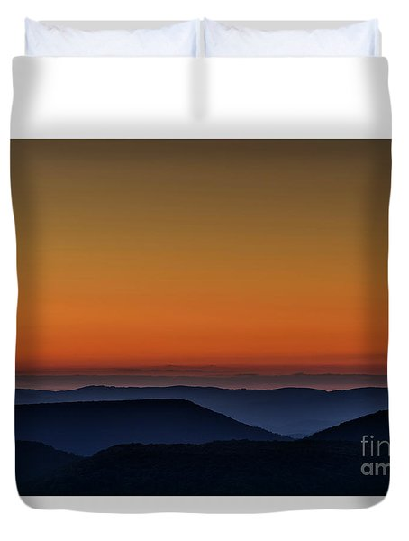Summer Solstice Sunrise Duvet Cover by Thomas R Fletcher