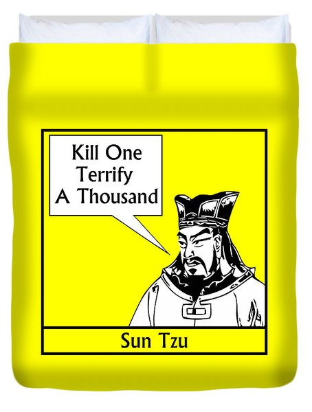 Sun Tzu Duvet Cover by War Is Hell Store