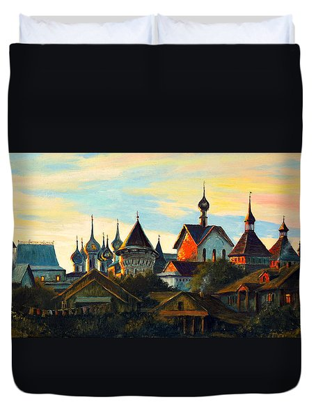 Sunset In Rostov Duvet Cover by Henryk Gorecki