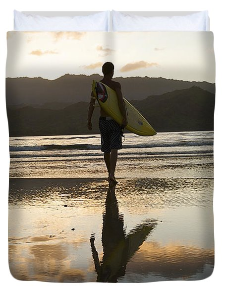 Sunset Surfer Duvet Cover by Kicka Witte - Printscapes