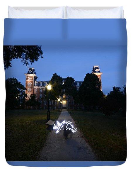 University Of Arkansas Duvet Cover by Chris  Look
