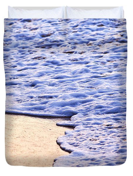 Waves Breaking On Tropical Shore Duvet Cover by Elena Elisseeva