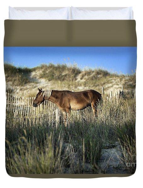 Wild Spanish Mustang Duvet Cover by John Greim