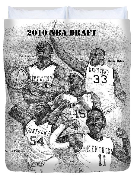 2010 NBA Draft Duvet Cover by Tanya Crum