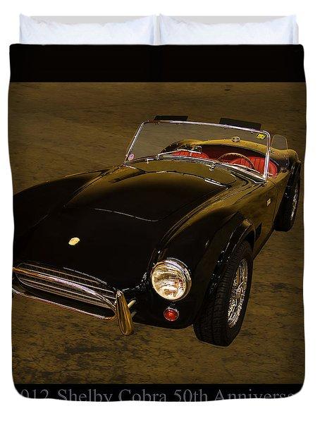 2012 Shelby Cobra 50th Anniversary  Duvet Cover by Chris Flees