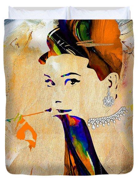 Audrey Hepburn Collection Duvet Cover by Marvin Blaine