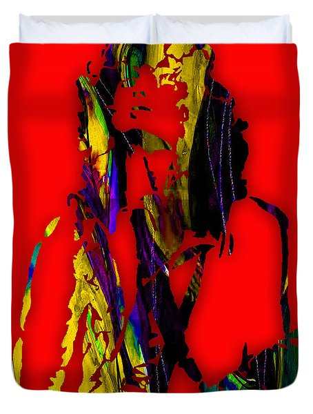 Jimmy Page Collection Duvet Cover by Marvin Blaine
