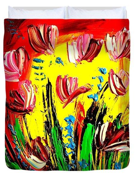 Tulips Duvet Cover by Mark Kazav