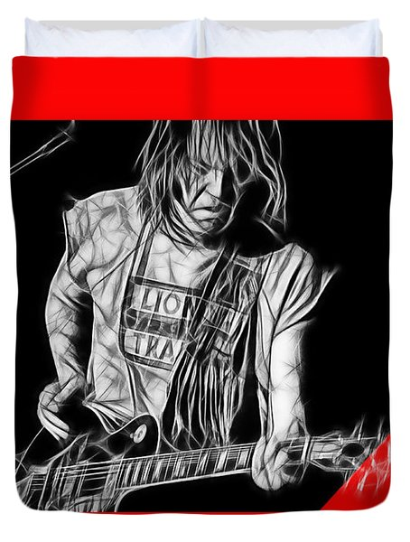 Neil Young Collection Duvet Cover by Marvin Blaine