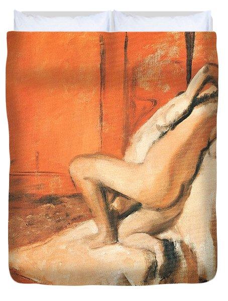 After The Bath Duvet Cover by Edgar Degas