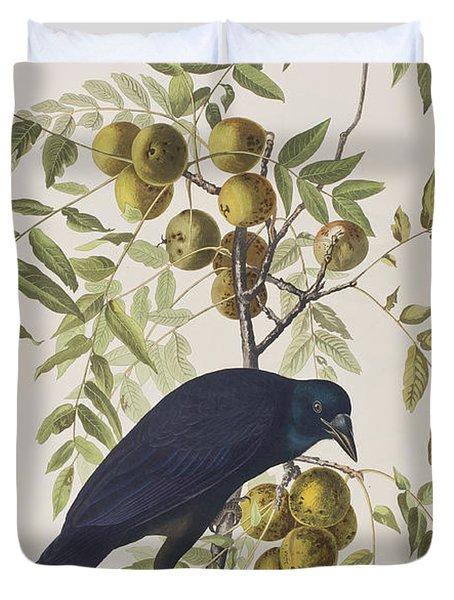 American Crow Duvet Cover by John James Audubon
