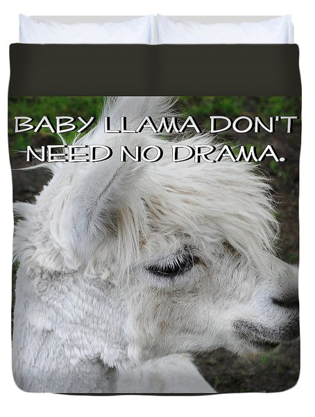 Baby Llama Duvet Cover by Ellen Henneke